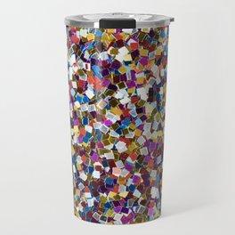 Colorful Rainbow Glittering Confetti Travel Mug