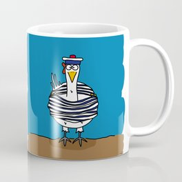 Eglantine la poule (the hen) dressed up as a seaman Coffee Mug