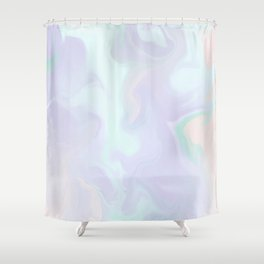 Holographic Marble x Purple Shower Curtain