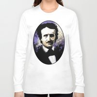 edgar allan poe Long Sleeve T-shirts featuring Edgar Allan Poe by Rouble Rust