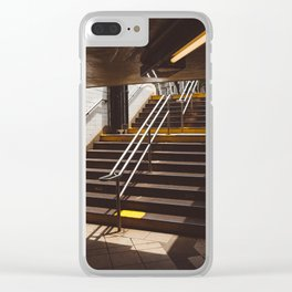 Brooklyn Subway II Clear iPhone Case