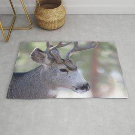 Watercolor Deer, Mule 04, RMNP, Concerning Thoughts Rug