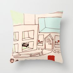 Rich People Throw Pillow