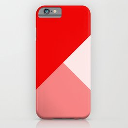 Trinity Color Block Red EE0000 iPhone Case