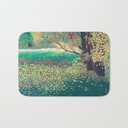 Back Yard Landscape Bath Mat