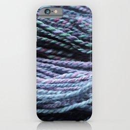 Beautiful Handspun Yarn Purple Blue iPhone Case