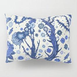 Blue flora Pillow Sham