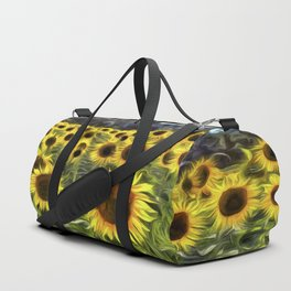 Sunflower Fields Of Dreams Van Goth Duffle Bag