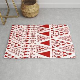 Zig Zag Pattern -  brick red Rug