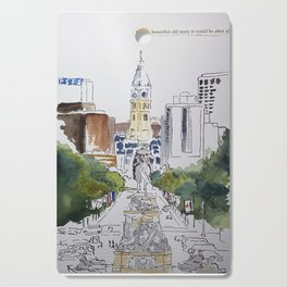 View of JFK BLVD, Philadelphia Cutting Board