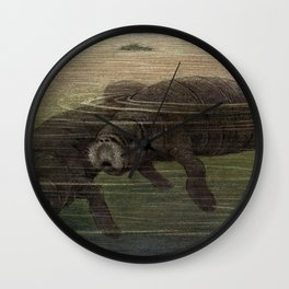 Vintage Manatee Painting (1909) Wall Clock