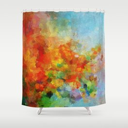 Abstract and Minimalist Landscape Painting Shower Curtain