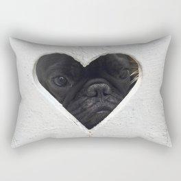 Peeking into your heart Rectangular Pillow
