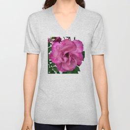 Bodacious Pink Rose | Large Pink Flower | Nature Photography Unisex V-Neck
