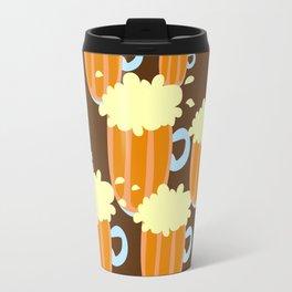 A fun cartoon frothy beer tiling pattern Travel Mug