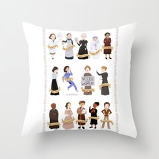 Women in History Throw Pillow