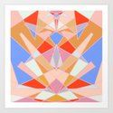 Flat Geometric no.35 Shapes and Layers by sewzinski
