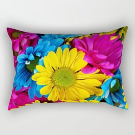 Colorful spring flowers Rectangular Pillow