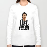 juventus Long Sleeve T-shirts featuring Del Piero by Sport_Designs