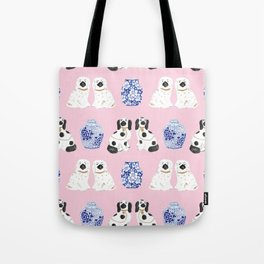 Staffordshire Dogs + Ginger Jars No. 4 Tote Bag