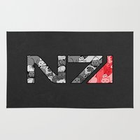 "n7 Area & Throw Rugs featuring ""My Favorite Things"" N7 by Helenasia"
