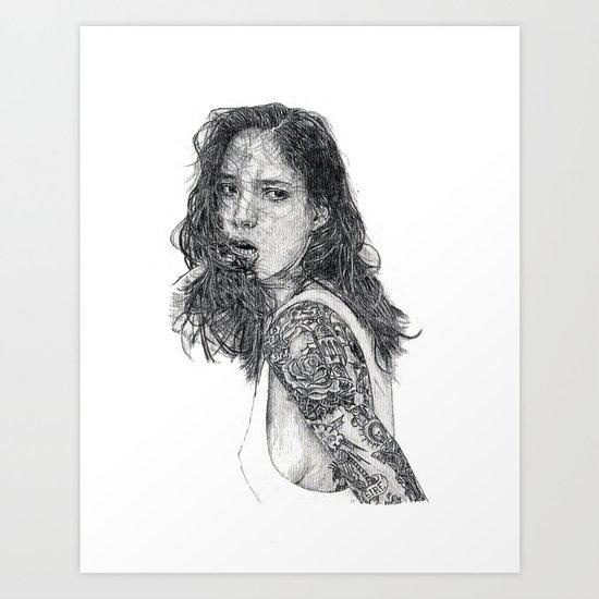 Lust & Tattoos Art Print