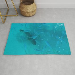 Fish Painting: Goliath Grouper and Yellowtail Rug