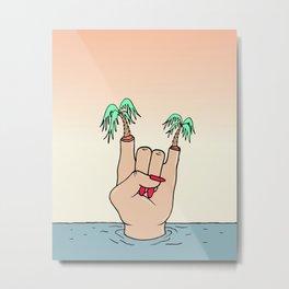 ROCK THE BEACH Metal Print