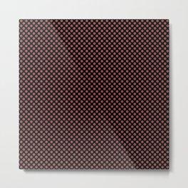 Black and Marsala Polka Dots Metal Print