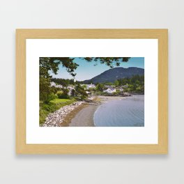 EASTSOUND ON ORCAS ISLAND IN THE PACIFIC NORTHWEST Framed Art Print