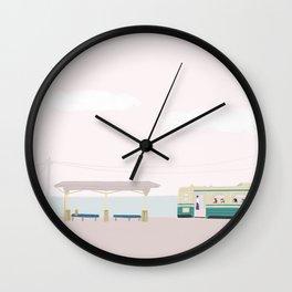 Seaside Bus stop Wall Clock