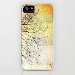 november gold iPhone Case