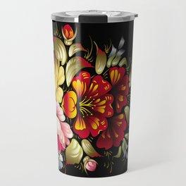Russian Khokhloma painting Travel Mug