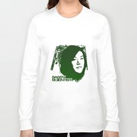 sassy Long Sleeve T-shirts featuring Sassy Scientist by Marchande Rêves