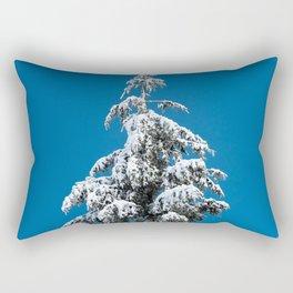 Winter Forest Fir Tree Snow X - Nature Photography Rectangular Pillow