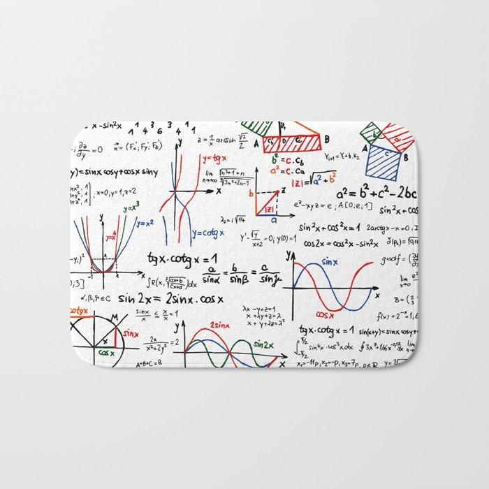 Math Cheat Sheet Bath Mat by pixelstory   Society6