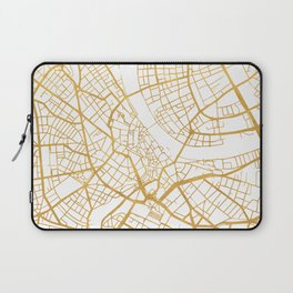 BASEL SWITZERLAND CITY STREET MAP ART Laptop Sleeve
