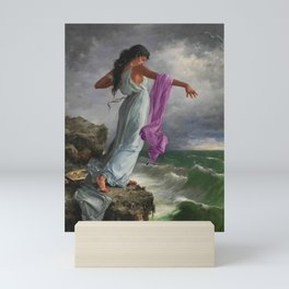 Death of the Tenth Muse Poetess Sappho at Leucadian cliffs by Miguel Carbonell Selva Mini Art Print