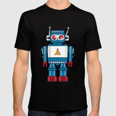 Robot SteveO MEDIUM Black Mens Fitted Tee