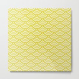 Circles_yellow Metal Print