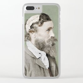 Robert McGee Scalping Survivor c.1890 - Colourised Clear iPhone Case