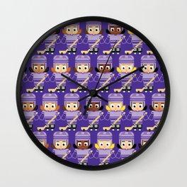 Super cute sports stars - Ice Hockey Purple Girls Wall Clock