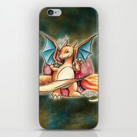 charizard iPhone & iPod Skins featuring 6 - charizard by Lyxy
