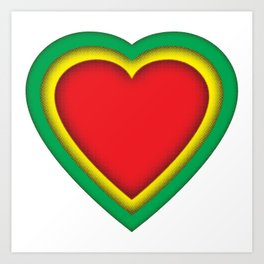 One love, one heart Art Print