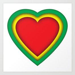 One love, one heart Art Print