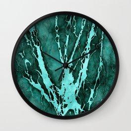 MARBLED QUETZAL GREEN Wall Clock