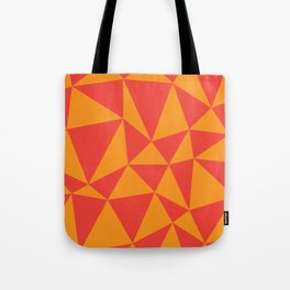 Abstract triangles - red and orange Tote Bag