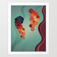 Digital Merlot 2 Art Print