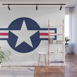 US Airforce style roundel star - High Quality image Wall Mural