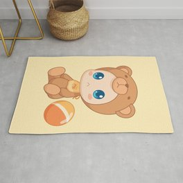 Baby in a Bear Jumpsuit Rug